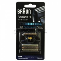 Braun 30B Replacement Foil and Cutter Cassette Multi Black BLS Combi Pack (81387936)