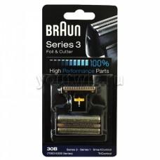 Braun 30B Replacement Foil and Cutter Cassette Multi Black BLS Combi Pack (81387936)
