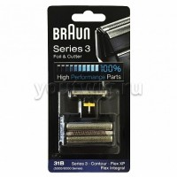 Braun 31B Replacement Foil and Cutter Cassette Multi Black BLS Combi Pack (81387938)